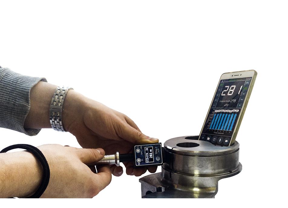 Использование твердомера ТПЦ-7 для измерений с подключением к смартфону